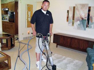 Travis Zohner, owner of Carpet Solutions